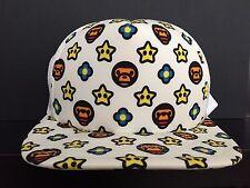 A Bathing Ape x Nintendo Mario Snapback Hat Cap Super Star & Fire Flower