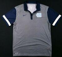 Nike Dri-Fit North Carolina Tar Heels Polo Shirt Size Medium Men's