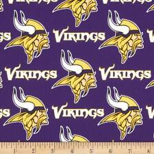 NFL MINNESOTA VIKINGS NEW PRINT 100% COTTON FABRIC FAT QUARTER 18X28 INCHES