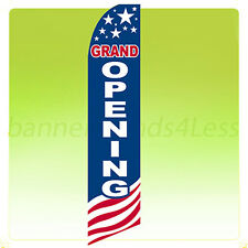 Grand Opening - Swooper Flag Feather Flutter Banner Sign 11.5' Tall - Usa bb