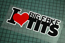 BIG FAKE TITS Sticker Decal Vinyl JDM Euro Drift Lowered illest Fatlace