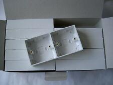 SCATOLA DA 10! raccolta 33mm DUAL pattress scatola-plastica Bianca-pagano per 8, inviamo 10