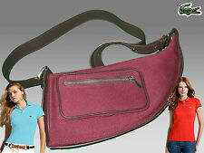 LACOSTE Ladies Womens Shoulder Bag  YACHTING 2 Canvas Burgundy AUTHENTIC