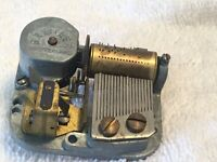 "Vintage Breitler Switzerland Music Box Gear Box Working"" Plays Silent Night"