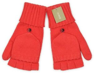 *NEW* J.Crew Women's Ribbed Wool-Blend Glittens - Vibrant Flame Red *NWT*
