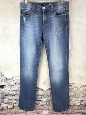 Vigoss London Straight Stretch Distressed Jeans Women's Size 7 X 31 N