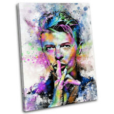 More details for david bowie abstract canvas print framed iconic music wall art picture