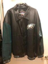 Philadelphia Eagles XL Faux Leather long sleeve vintage jacket