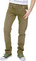 "Mens TRUE RELIGION Premium ROCCO SLIM/SKINNY FIT Brown Jeans W38"" L34"" RRP £150"
