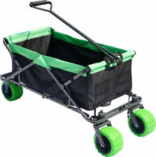 Collapsible Beach Cart Folding Wagon Utility Shopping Cart Outdoor Garden Cart
