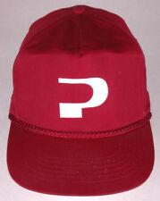 """Vtg """"P"""" Hat-Maroon-Snapback-Rope Bill-Kc-Trucker Cap-"""