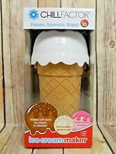 Chill Factor ICE CREAM MAKER Chocolate Delight NEW Makes Soft Serve in Minutes!