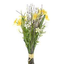 Artificial Silk Flowers Daffodil Spring Bundle 36cm