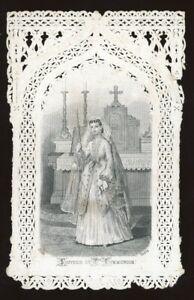 Canivet XIX° - SOUVENIR DE COMMUNION. Holy card, Santino, Image pieuse, Blot.