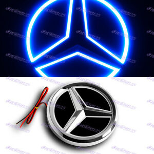 5D LED Car Tail Logo Blue Light Badge Emblem Light For Mercedes-Benz C S GLK AMG