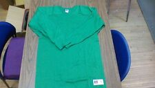 vintage Russell Athletic Cloth Cotton Football Raglan Usa Made Size Large Green