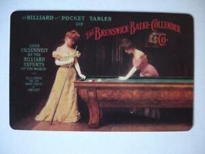 Brunswick-Balke-Collender Co. Billiards/Pool Card (RARE!)