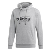 New Adidas Brilliant Basics Hoodie Sweater Athletics Gray EI4621 Mens Size Large