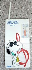 Joe Cool, Snoopy Shower Radio, Salton,  AM/ FM/ TV/ Weather
