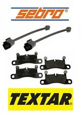 For Porsche Cayenne VW Rear Textar Brake Pads & Sebro Brake Pad Sensors Kit