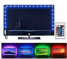 3FT/1M Computer TV Backlight 5V USB LED strip Light 5050 RBG Background Lights