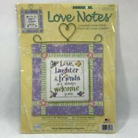 Dimensions Love Notes Counted Cross Stitch Kit #72927 Love Laughter Friends 2003