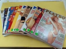 Playboy Magazine Full Year Set 1991 All 12 Issues. Complete Collection. Nude Lot
