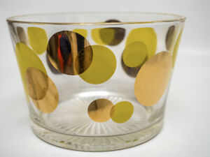 Vintage Russel Wright Eclipse Glass Ice Bucket Yellow & Gold
