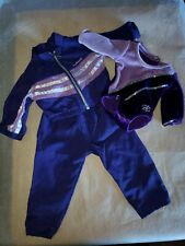 American Girl of Today 3 piece Purple Gymnastics Outfit, Pant Jacket & Leotard