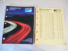 Vintage 89 Champ Automotive Parts Tools Accessories Catalog w Price Sheet CS1870
