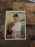 Mookie Betts 2016 Topps Heritage Chrome #469 #'d 051/999 Red Sox
