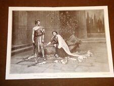 Teatro nel 1909 La Fedra di Gabriele D'Annunzio Gabriellino Franchini Giuliano