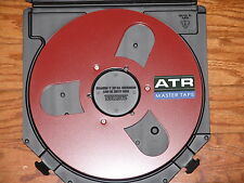"BRAND NEW RED ATR MASTER EMPTY 1/4"" 10.5"" METAL REEL TO REEL RARE FIT AKAI TEAC"