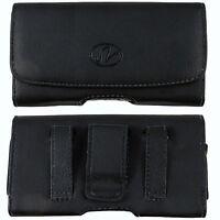 Leather Belt Clip Case with Magnetic Closure Verizon LG Phones