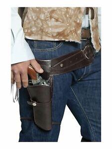 Western Single Gun Holster and Belt Fancy Dress Costume Accessory