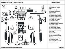Mazda RX 8 2003-2008 without navigation Real Carbon Fiber Dash Kit Trim-Full Kit