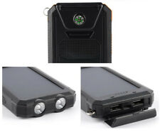 Solar Power Bank Cell Phone Charger 10000 mAh,Waterproof,Shockproof, Flashlight