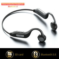 HIFI Bone Conduction Wireless Headphone Bluetooth5.0 Headset Stereo BTE Earphone