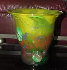 Grand vase en verre soufflé à décor d'inclusions signé J.P. MATEUS / Déco design