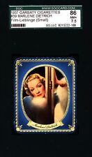 Marlene Dietrich-1937 Garbaty Film Lieblinge Card #39;Passion Cig; SGC 7.5 (NM+)