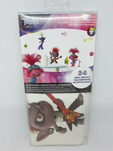 TROLLS WORLD TOUR 24 Wall Decals! Removable And Repositionable