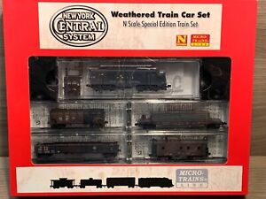 N Scale Micro-Trains NYC Weathered Train Car Set- New York Central 993 01 150