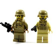 2 SWAT personajes de lego ® partes y piezas Brickarms tan Dark tan personaje Police