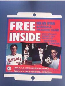 1989 Nolan Ryan Angels Mothers Cookies Advertising Poster - MINT - FLASH SALE