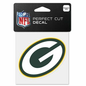 """Green Bay Packers Wincraft NFL Perfect Cut Color Decal 4"""" X 4"""""""