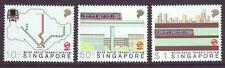 Singapore 1988 SC 522-524 MNH Set Inauguration MRT Train