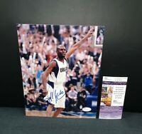 DARRELL ARMSTRONG DALLAS MAVERICKS NBA SIGNED 8X10 PHOTO W/JSA COA  2011 CHAMPS