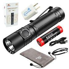 Klarus G15 Rechargeable Flashlight 4000 Lumen LED Tactical Light with USB Plug