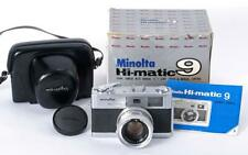 Minolta Hi-Matic 9 35mm Rangefinder Camera w/Case Beautiful - TESTED - NEW SEALS