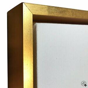"Gold Floater Frame for 1.5"" deep Canvas"